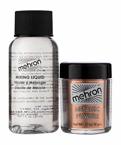 MEHRON Металлическая пудра-порошок Metallic Powder (5 г) с жидкостью для смешивания Mixing Liquid (30 г), Cooper  (Медь )