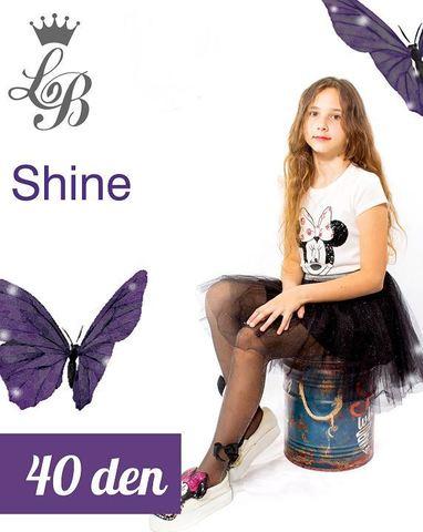Колготки LB SHINE (черно-серебристый) 40 den