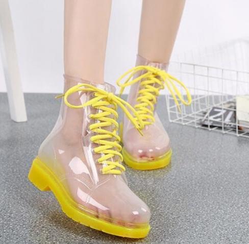 Прозрачные ботинки Invisible-Shoes Желтые