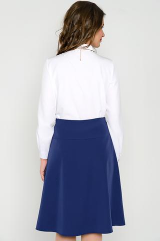 Классическая юбка на кокетке. По переду складка, по боковому шву - замок. (Длины: 44-61см; 46-62см; 48-63см; 50-64см; 52-65см)