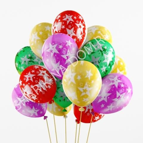 """С рисунком Воздушные шары с рисунком """"Звезды"""" Воздушные_шары_с_звёздами.jpg"""