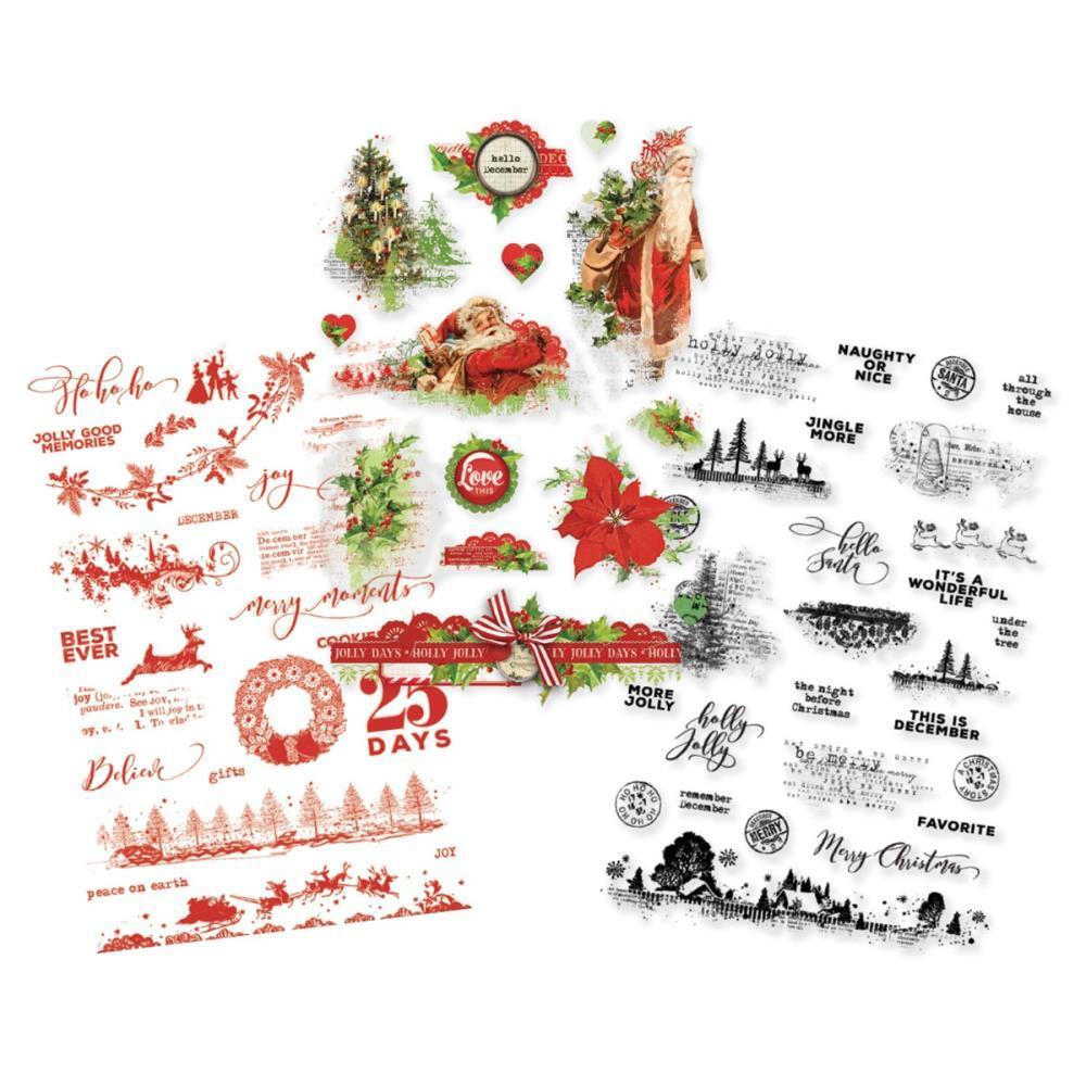 Стикеры ацетатные Simple Vintage Christmas Clear Stickers - 68 шт.