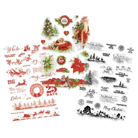 Стикеры ацетатные Simple Vintage Christmas Clear Stickers - 68 шт.