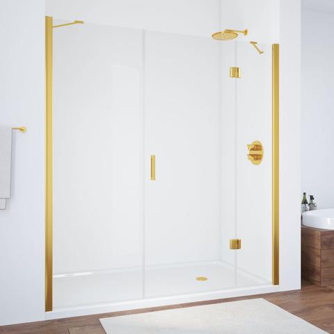 Душевая дверь в нишу Vegas Glass AFP-F профиль золото, стекло прозрачное