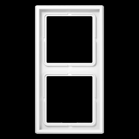 Рамка на 2 поста. Цвет Белый. JUNG LS 990. LS982WW