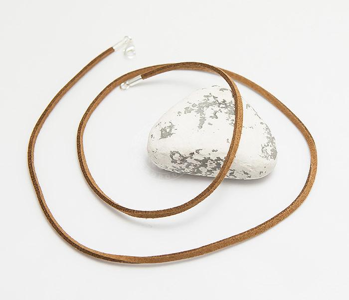 PL284-2 Коричневый шнур из натуральной замши (55 см) фото 03