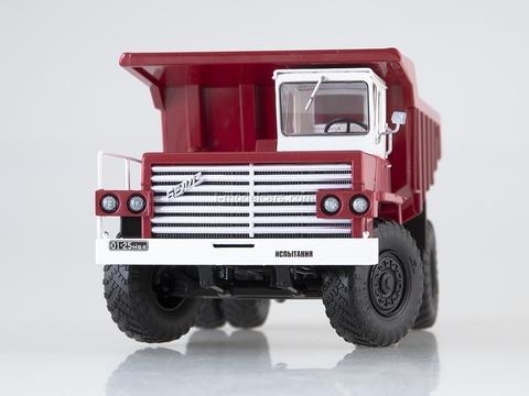 BELAZ-540 Dumper exhibition red-white 1:43 Dealer models BELAZ