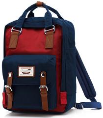 Рюкзак Nikki Macaroon Темно-синий + Красный