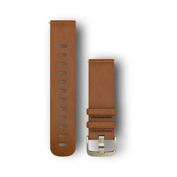 Кожаный ремешок Garmin светло-коричневый