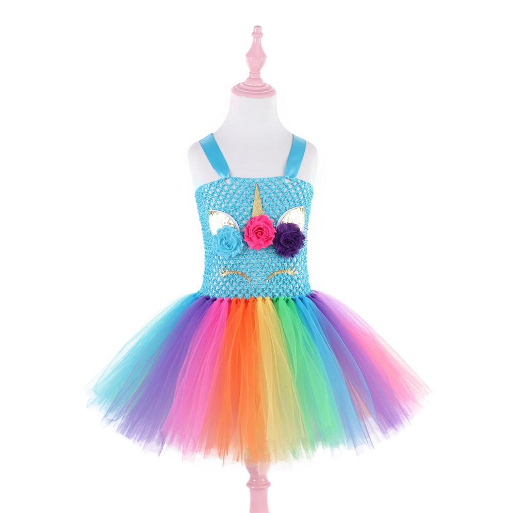 Детское платье Единорог радужный в ассортименте