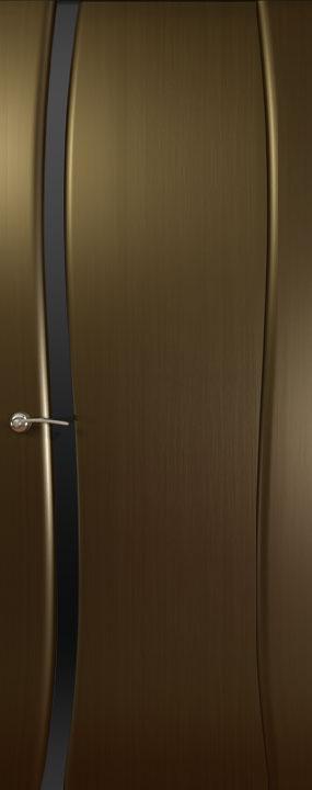 Буревестник-1 ДО,Черное стекло, Венге, Дверное полотно, ОКЕАН