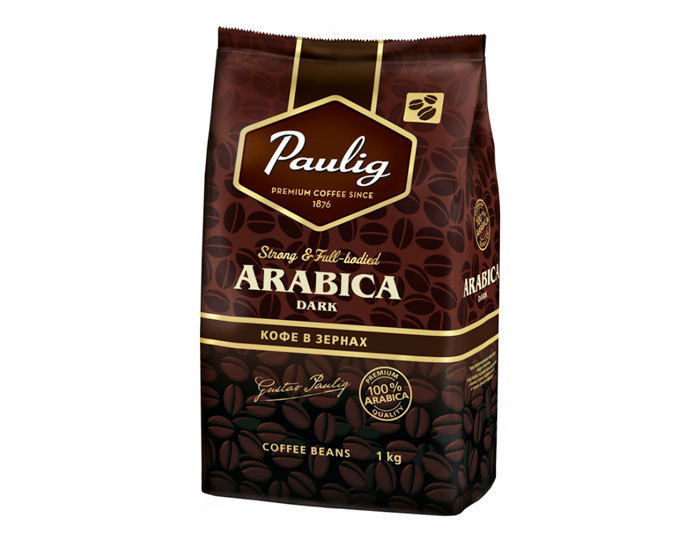 Кофе в зернах Paulig Arabica Dark, 1 кг (Паулиг)