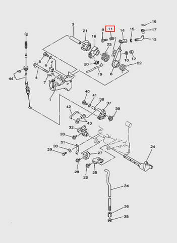 Пружина компрессионная  для лодочного мотора T15, OTH 9,9 SEA-PRO (12-11)