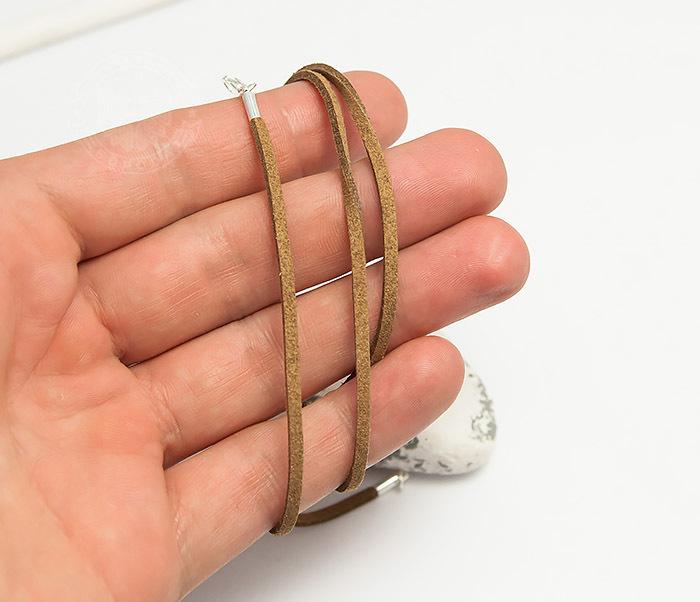 PL284-2 Коричневый шнур из натуральной замши (55 см) фото 04