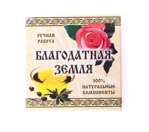 Мыло натуральное оливковое Роза, 75 г