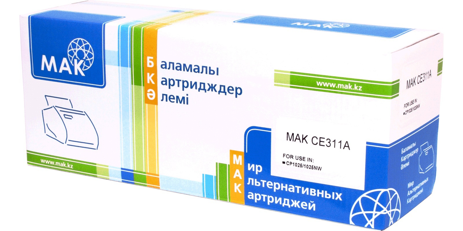 MAK №126A CE311A/Cartridge 729C голубой (cyan), для HP/Canon, до 1000 стр.