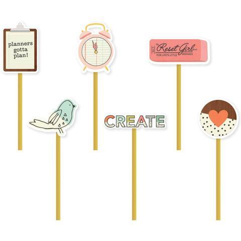 Закладки металлические Reset Girl Decorative Clips -6 шт