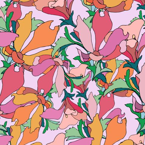 Яркие розовые цветы