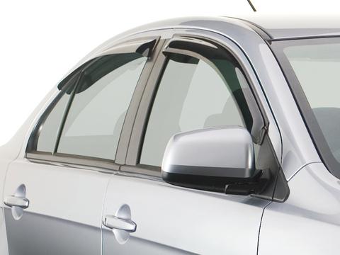 Дефлекторы боковых окон для Nissan Qashqai+2 2008-2013 темные, 4 части, EGR (92463036B)