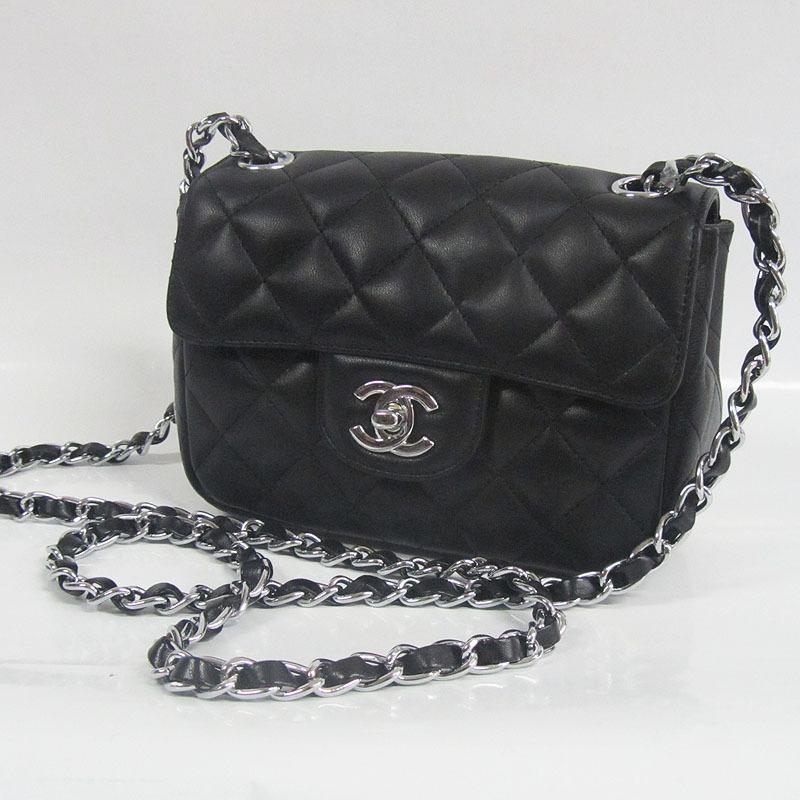 4614d339a564 Купить женскую сумку Chanel Lambskin Flap Bag black 2508-0953