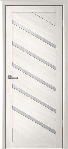 Дверь Фрегат ALBERO Сингапур-5 , стекло матовое, цвет кипарис белый, остекленная