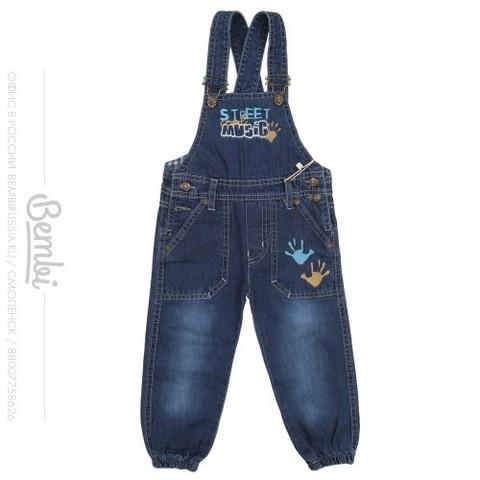 ПК108 Полукомбинезон джинсовый для мальчика