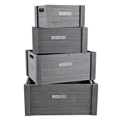набор из 4-х ящиков 40x30x22, 36x26x20,32x23x18, 28x19x16