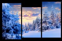 """Модульная картина """"Красивая зима"""""""