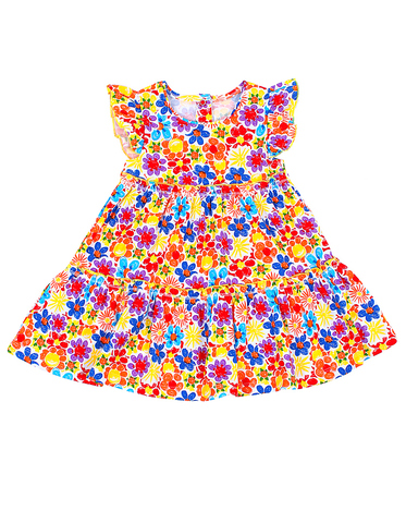 Basia Л921 Платье для девочки в цветочек