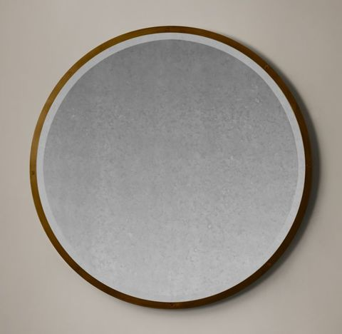 Bistro Antiqued Glass Round Mirror