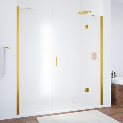 Душевая дверь в нишу Vegas Glass AFP-F профиль золото, стекло сатин