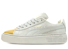 Кеды Женские Puma Suede Creeper Lt Grey Gold