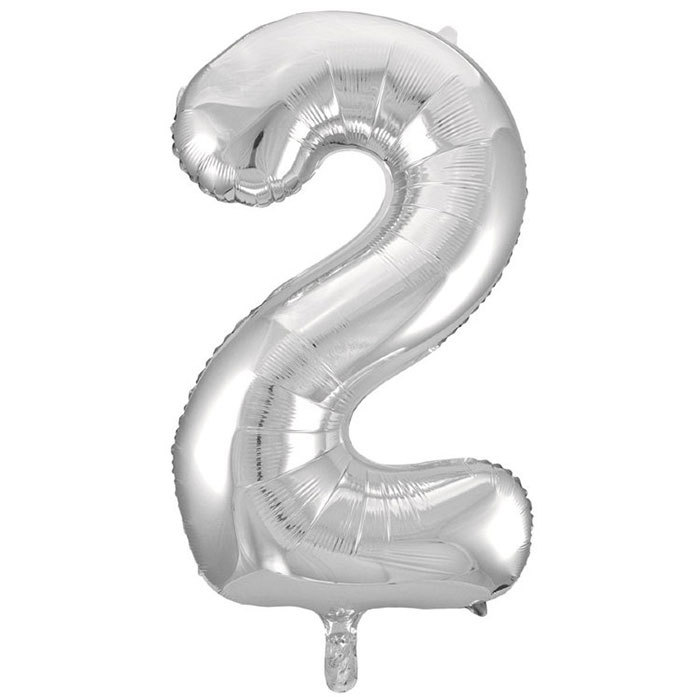 Фольгированные шарики в виде цифр Шар цифра 2 Серебро 20342.jpg