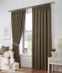 Тоскана (светло-коричневый). Плотные шторы рогожка.