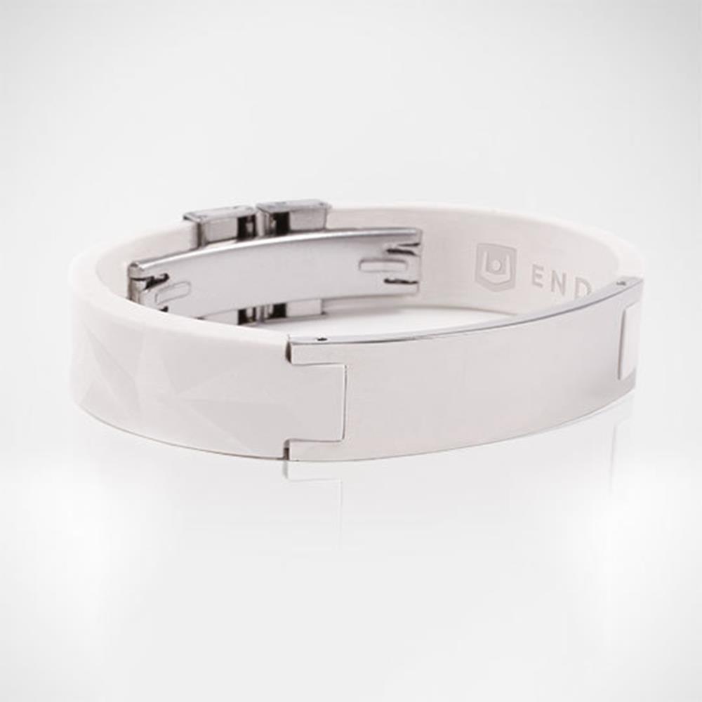 Браслет PureБраслет PureStrength T1i серия NEW  белый/серебристый УЦЕНЕННЫЙ, небольшие царапины на металлической вставке