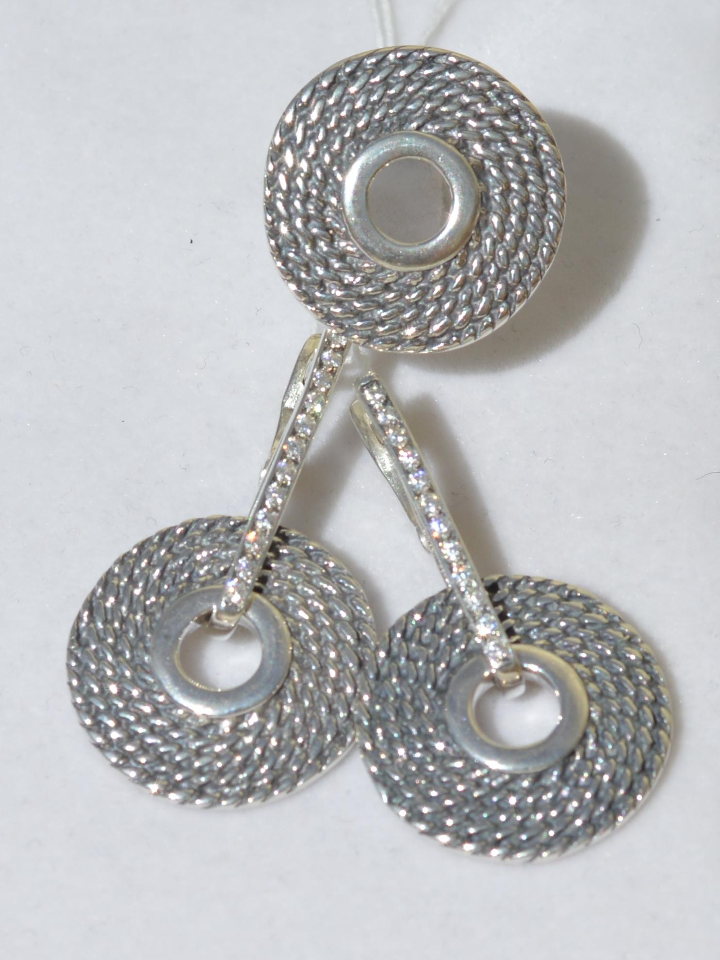 Холли (кольцо + серьги из серебра)