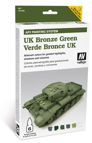 Model Air AFV UK Bronze Green Armour Painting System (6) 8 ml.