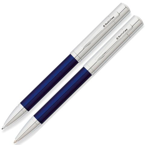 Набор FranklinCovey Greenwich - Blue and Chrome CT, шариковая ручка + карандаш, M