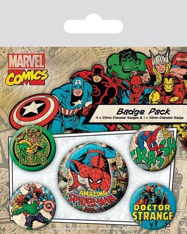 Набор значков Marvel Comics Spider-Man