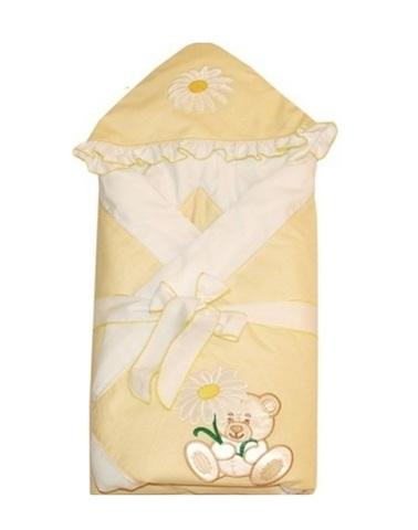 Конверт-одеяло для новорожденных на выписку Ромашка желтый