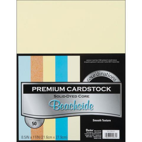 Набор кардстока А4. Core'dinations Value Pack Smooth Cardstock     - Beachside