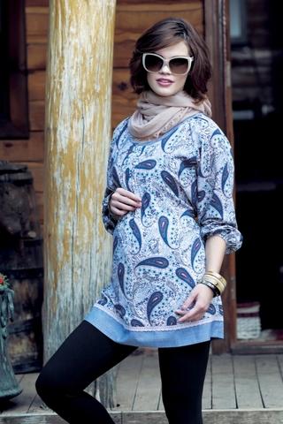 Блузка для беременных 00911 синий