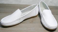 Женские белые мокасины AESD 902 White