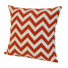 Элитная подушка декоративная Chevron оранжевая от Casual Avenue