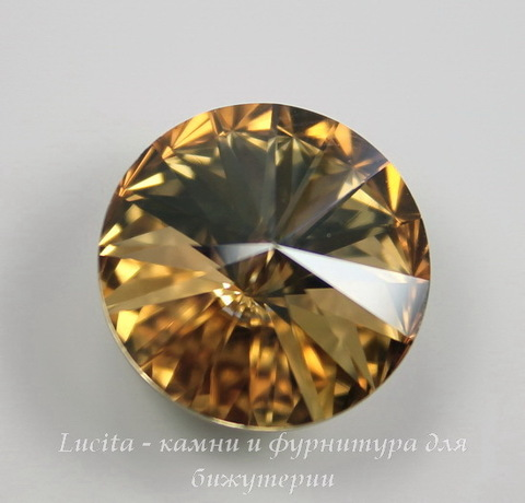 1122 Rivoli Ювелирные стразы Сваровски Crystal Golden Shadow (12 мм)
