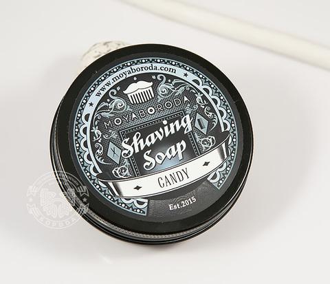RAZ207-2 Натуральное мыло для бритья &#34CANDY, лимонная вербена (60гр)