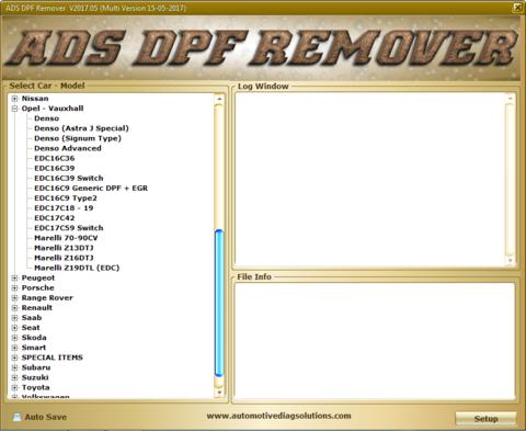 DPF EGR Lambda Adblue Flap DTC Hotstart Remover v 2017.05