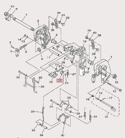 Стопор пружины для лодочного мотора F9,9 Sea-PRO (21-23)