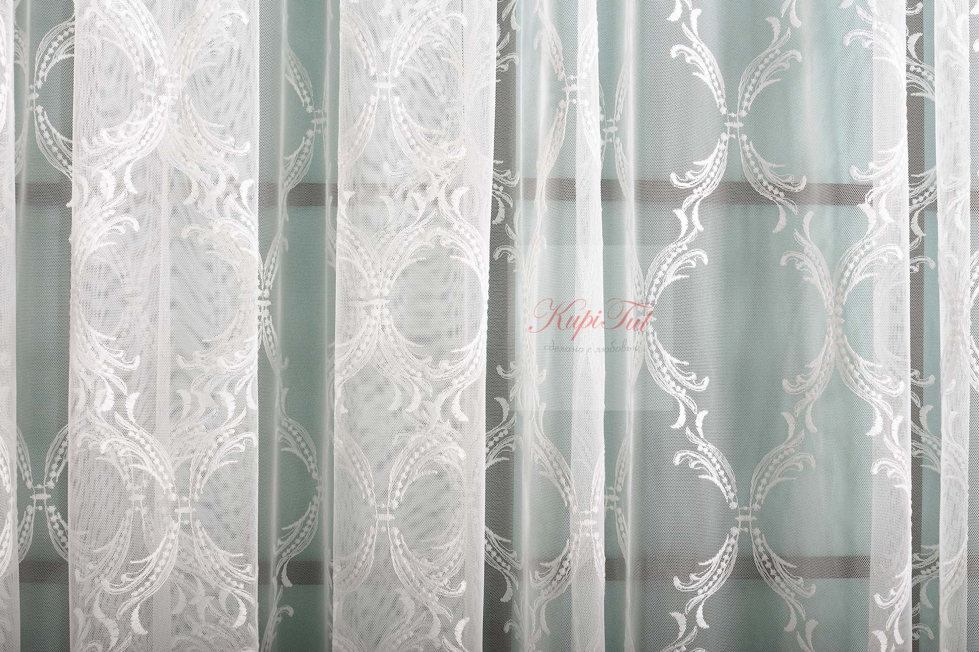 Тюль с вышивкой Милана (молочный)