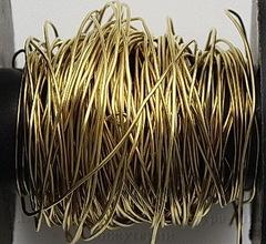 Винтажная проволока латунная 0,8 мм (цвет - латунь), 50 см